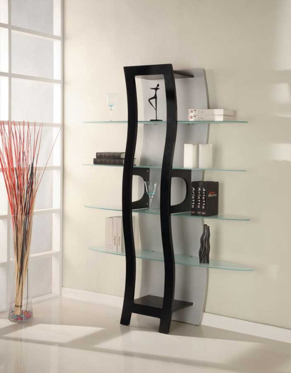 917 Display Unit - Black/Silver - Global Furniture