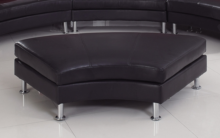 919 Sectional Ottoman - Black/Red - Global Furniture