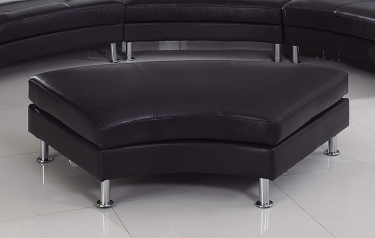 919 Sectional Ottoman - Black/White - Global Furniture