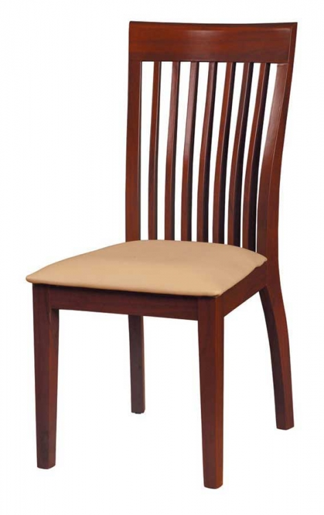 GF-97 Dining Chair-Beige Cushion-Mahogany