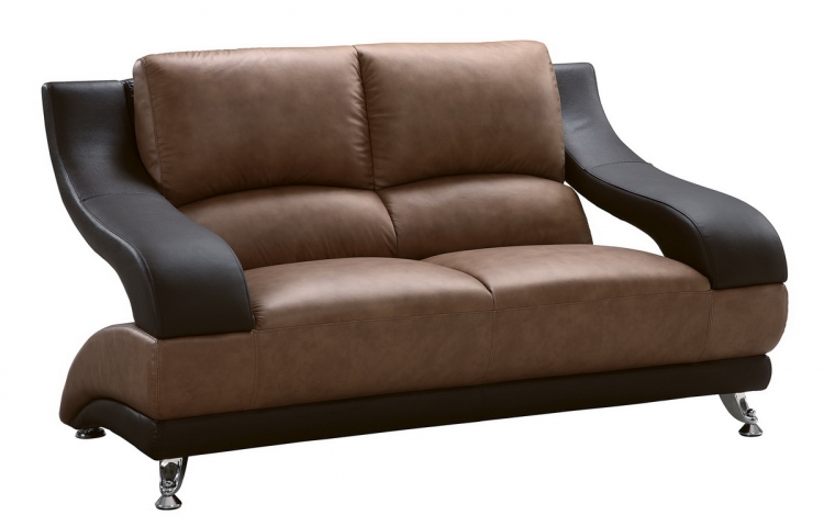 982 Love Seat - Tan/Brown - Global Furniture