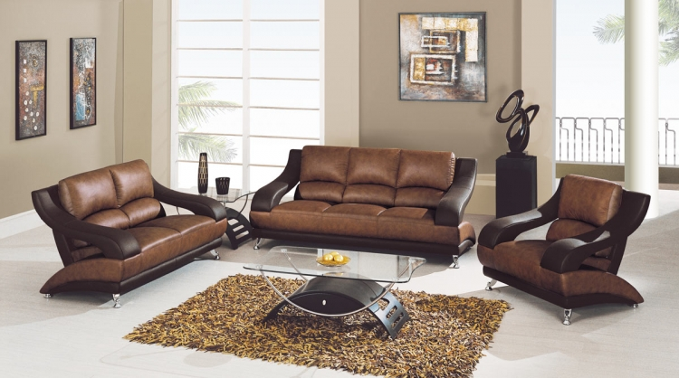 982 Living Room Set - Tan/Brown
