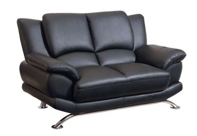 9908 Love Seat - Black - Global Furniture