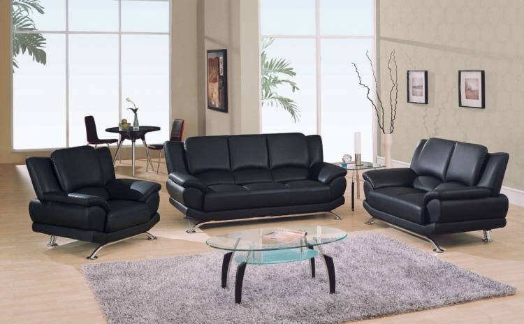9908 Living Room Collection - Black - Global Furniture