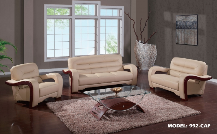 992 Sofa Set - Cappuccino
