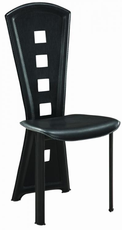 GF-1501 Dining Chair - Black PVC