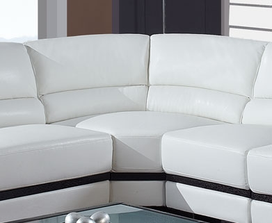 A203 Sectional Corner - White