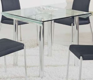 GF-A818 Square Dining Table - Metal / Glass