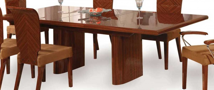 Adriana Dining Table-Zebrano