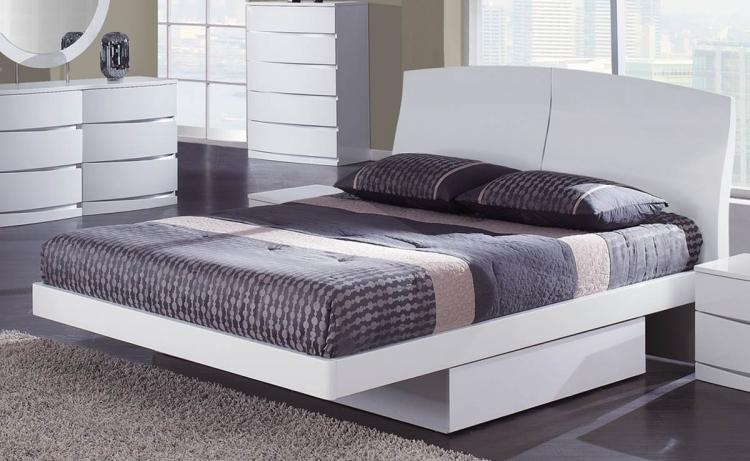 Aria Platform Bed - White