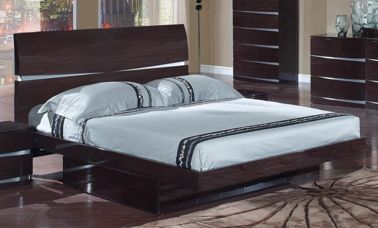 Aurora Platform Bed - Wenge - Global Furniture