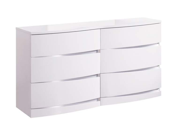 Aurora Dresser - White - Global Furniture