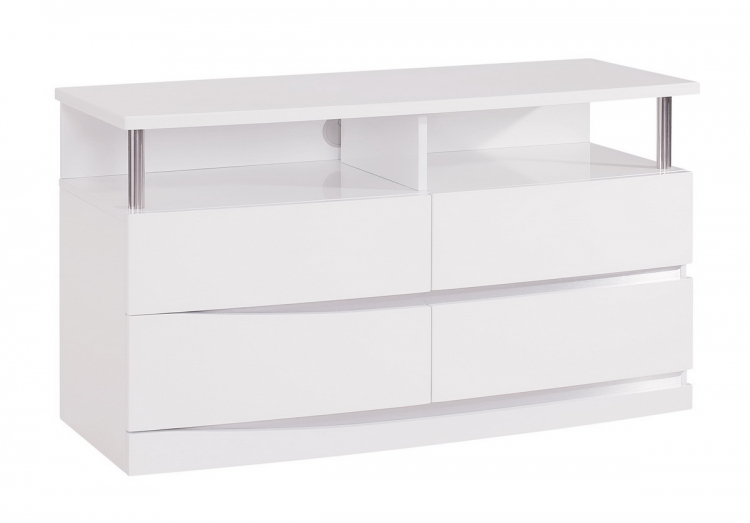 Aurora Entertainment Unit - White - Global Furniture