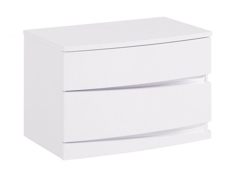 Aurora Night Stand - White - Global Furniture