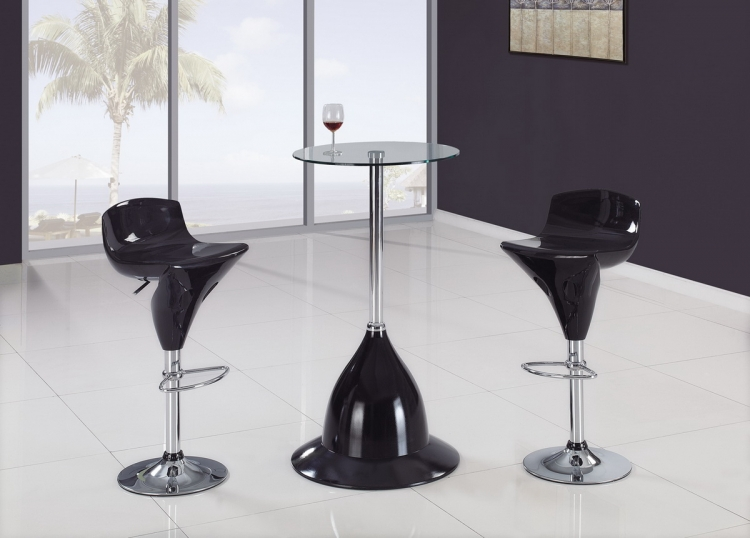 B230H Bar Set - Black - Global Furniture