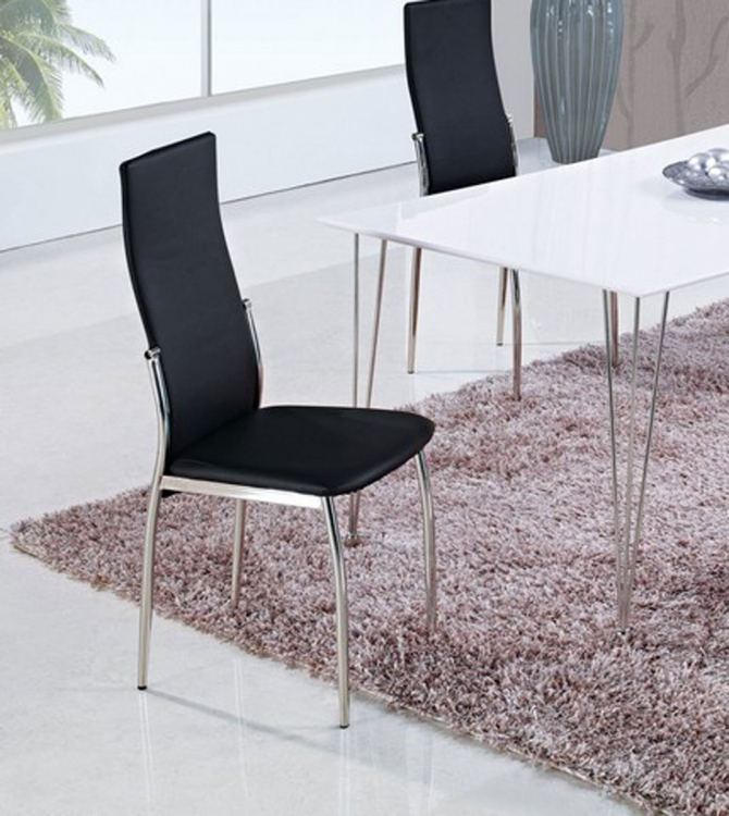 475 Dining Chair - Black/ Metal Legs