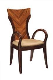 D52 Arm Chair - Coffee/Dark Brown