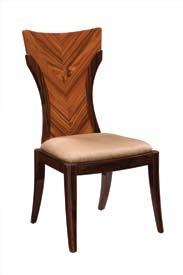 D52 Dining Chair - Coffee/Dark Brown