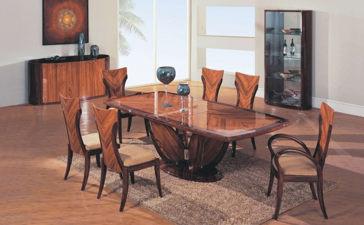 D52 Dining Set - Coffee/Dark Brown - Global Furniture