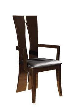 D59 Arm Chair - Dark Brown