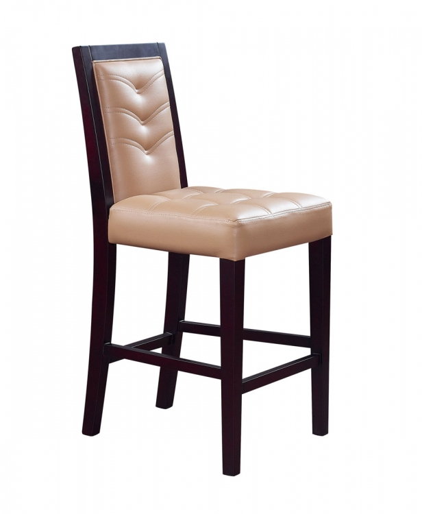 800 Bar Stool - Vinyl - Wenge/Tan Marble - Global Furniture