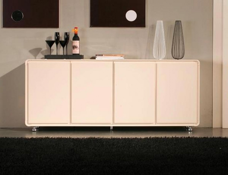 88B Buffet - Clear Welt with Black Stripe - Beige Metal Legs - Global Furniture