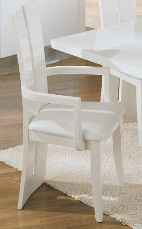 D99-Wh Arm Chair - White
