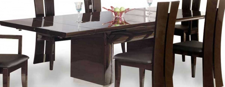 D99 Dining Table-Wenge and Chrome