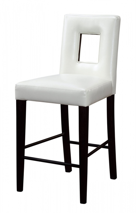 G072 Bar Stool - Vinyl/Beige - MDF/Wood Legs - Global Furniture
