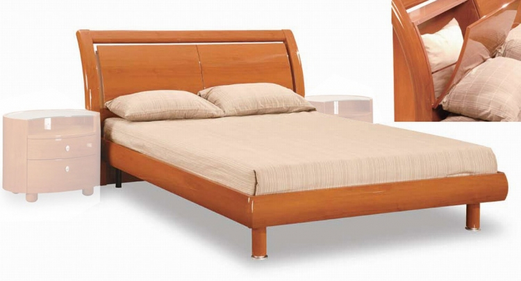 Emily Platform Bed - Cherry