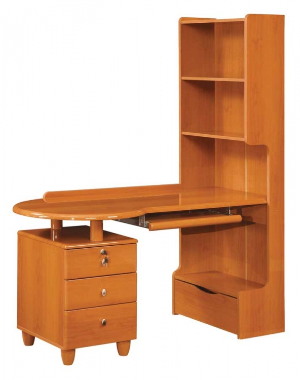 Emily Kids Study Table - Cherry - Global Furniture