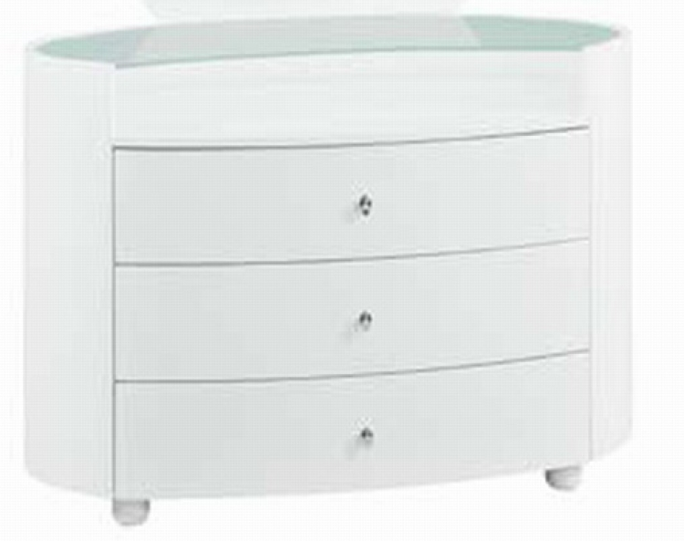 Emily Kids Dresser - White - Global Furniture