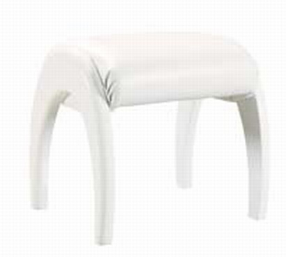 Emily Kids Study Stool - White