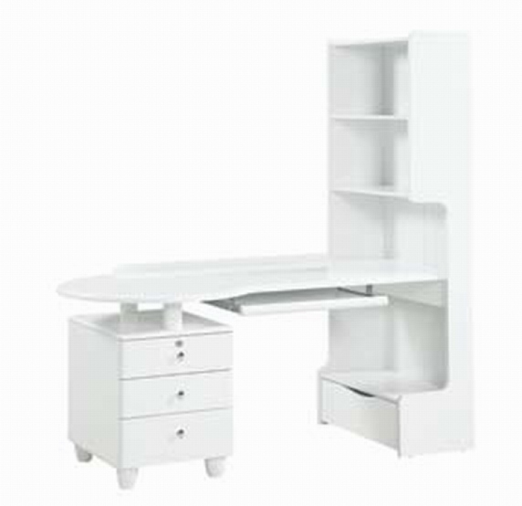 Emily Kids Study Table - White