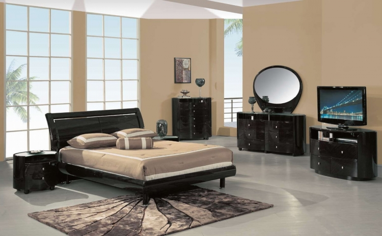 Emily Platform Bedroom Collection - Wenge - Global Furniture