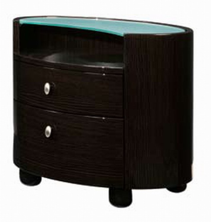 Emily Night Stand - Wenge - Global Furniture