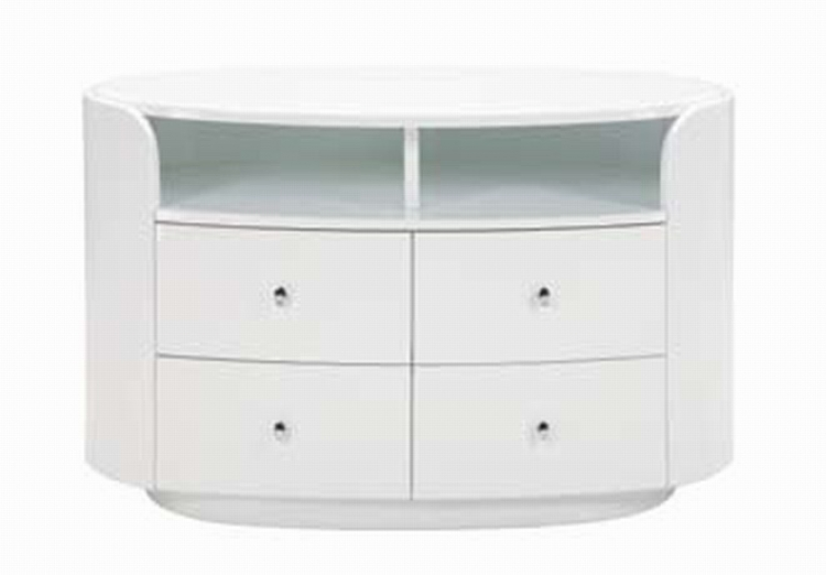 Emily Entertainment Unit - White