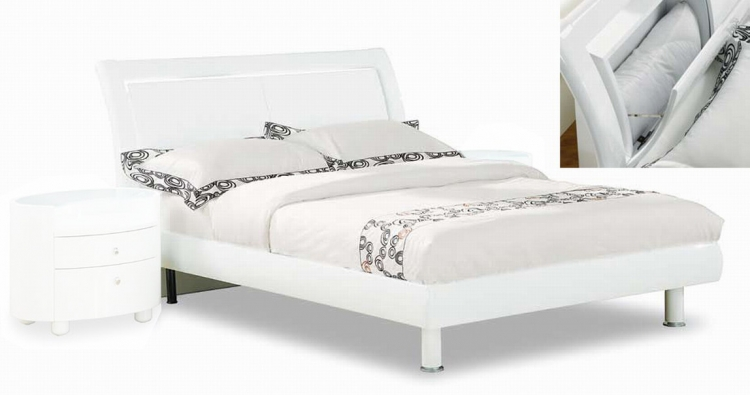 Emily Platform Bed - White - Global Furniture
