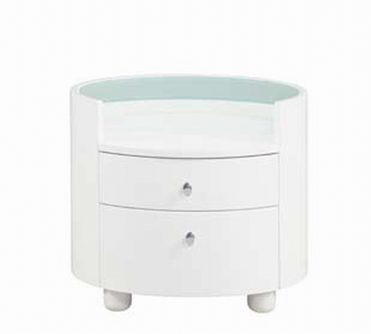 Emily Night Stand - White - Global Furniture