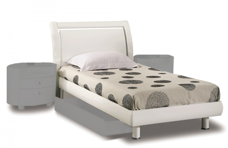 Emily Kids Platform Bed - White - Global Furniture