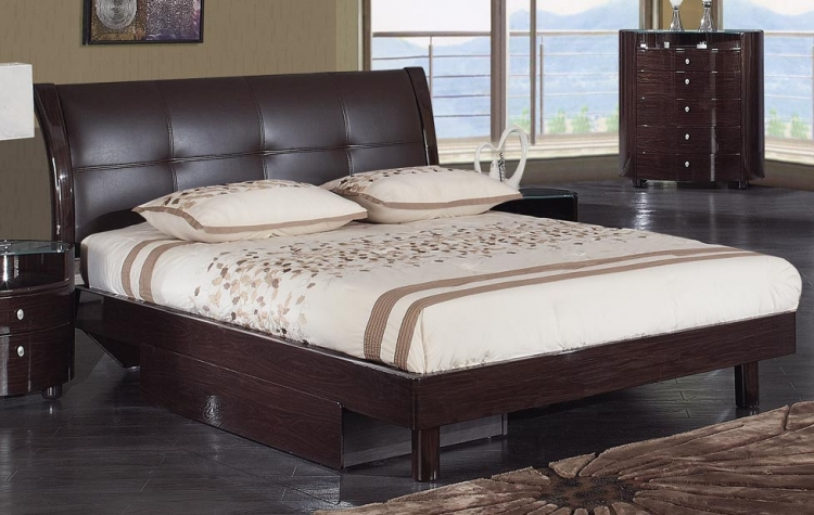 Evelyn Platform Bed - Wenge - Global Furniture