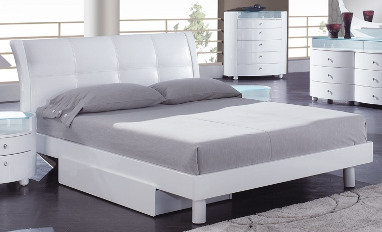 Evelyn Platform Bed - White