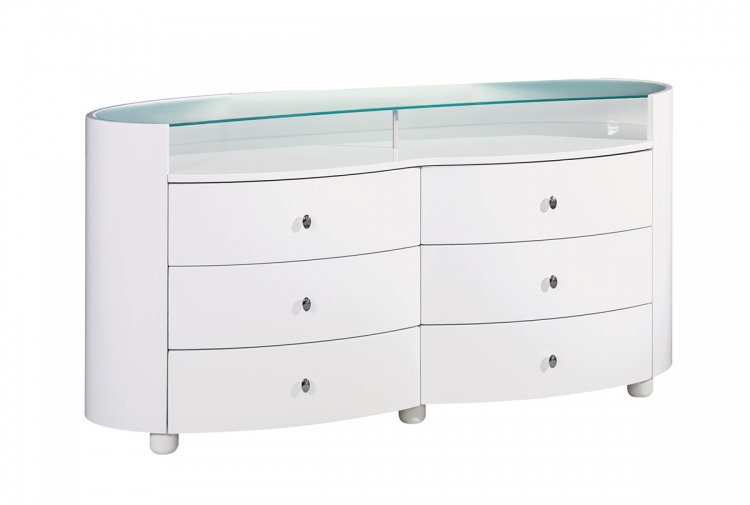 Evelyn Dresser - White - Global Furniture