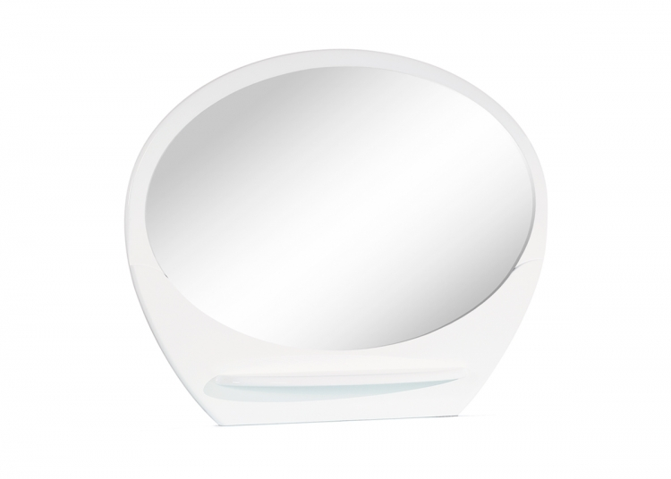 Evelyn Mirror - White - Global Furniture