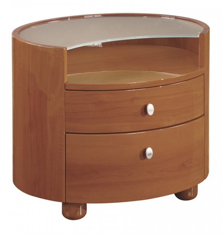 Evelyn Night Stand - Cherry - Global Furniture
