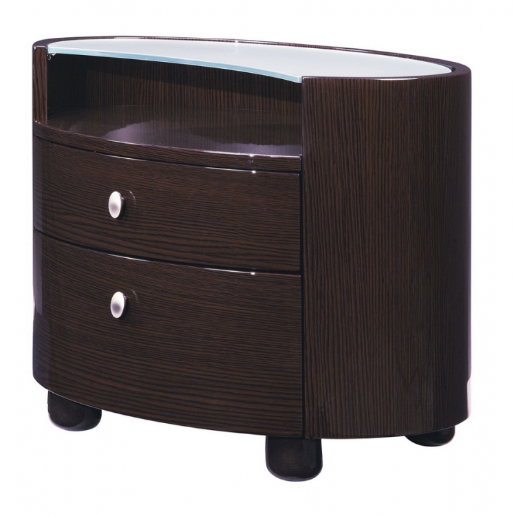 Evelyn Night Stand - Wenge - Global Furniture