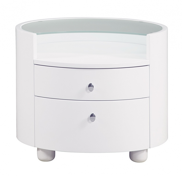 Evelyn Night Stand - White