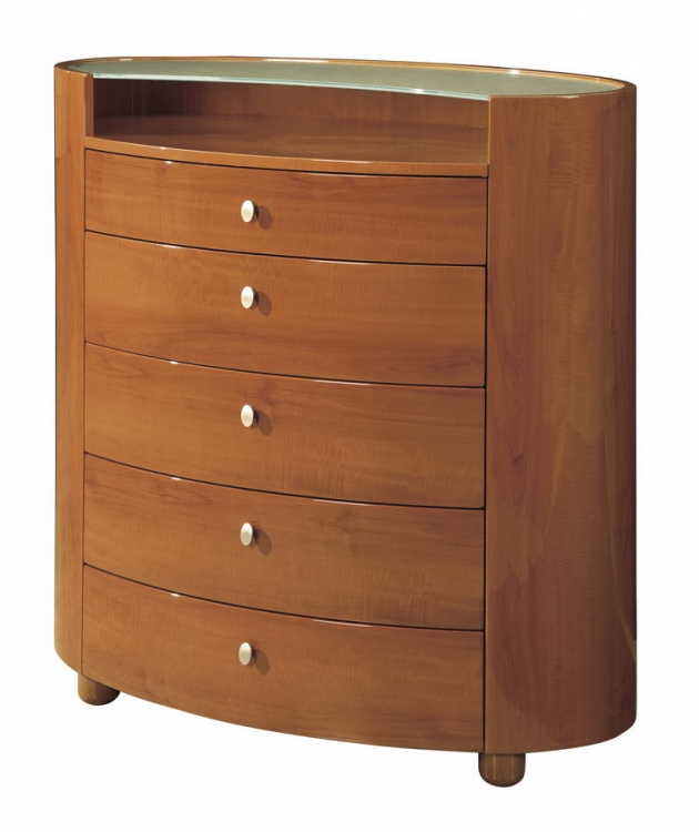 Evelyn Kids Chest - Cherry - Global Furniture