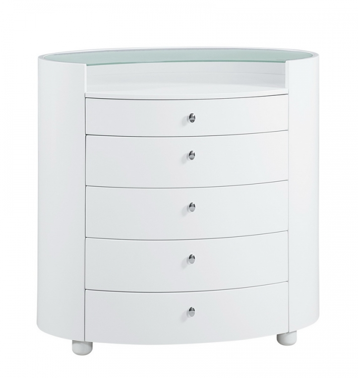Evelyn Kids Chest - White - Global Furniture