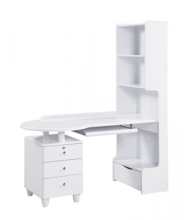 Evelyn Kids Desk - White - Global Furniture